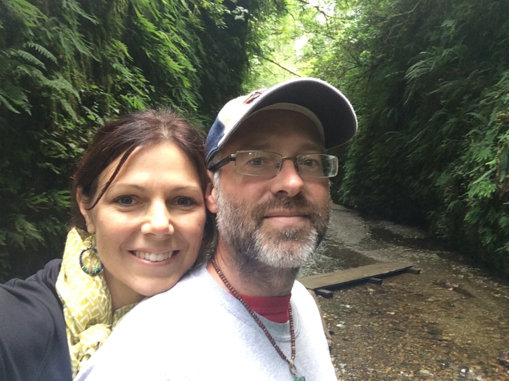Chris & I in the Fern Canyon - Redwood National Park