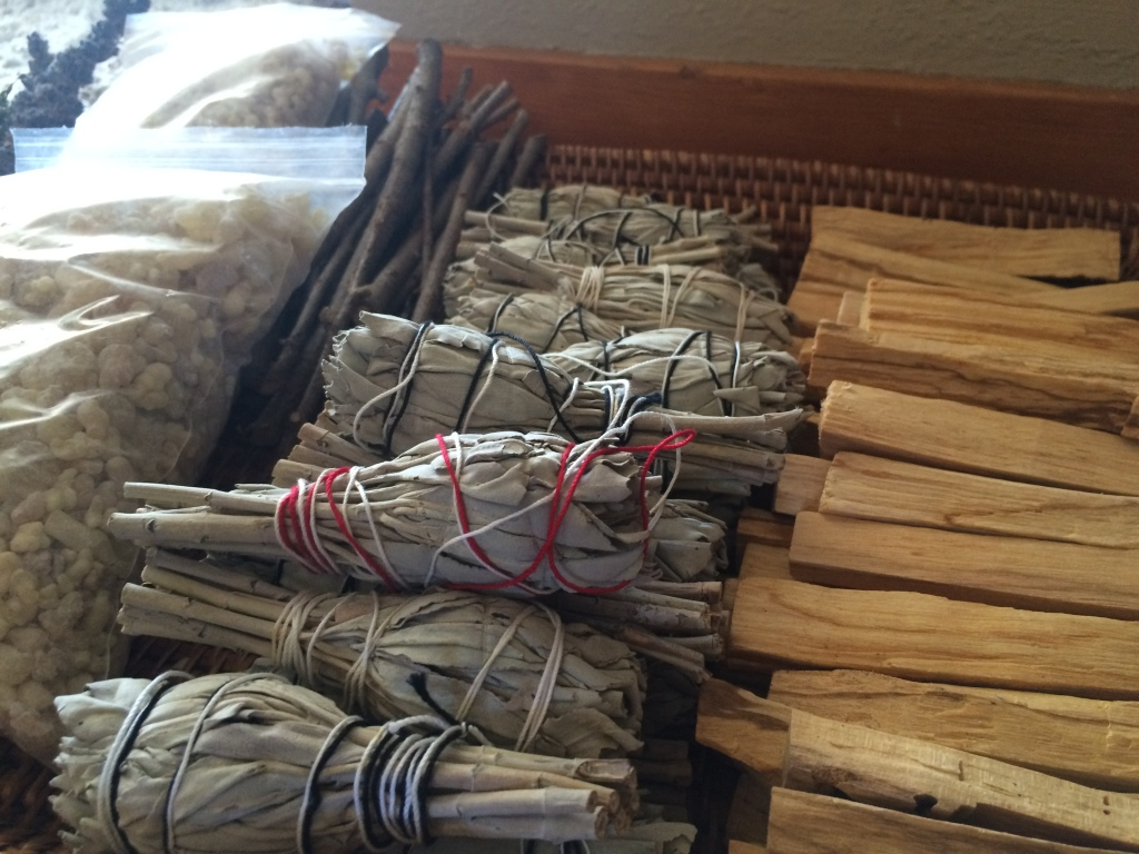 And I replenished my smudging supplies . . . Did you know there is a shortage of white sage? A little something I learned when I stopped by my favorite sage vendor and he was sold out.