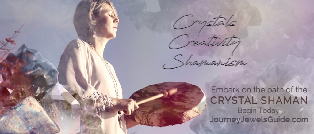 Crystal Shaman, Lori A Andrus with drum